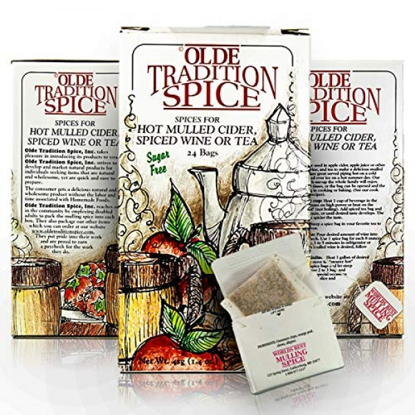 Olde Tradition Spice: Mulling Spices in Tea Bags for Hot Apple C...