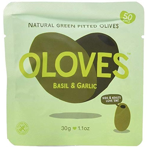 OLOVES Basil & Garlic   Fresh Green Pitted Olives   All Natural ...