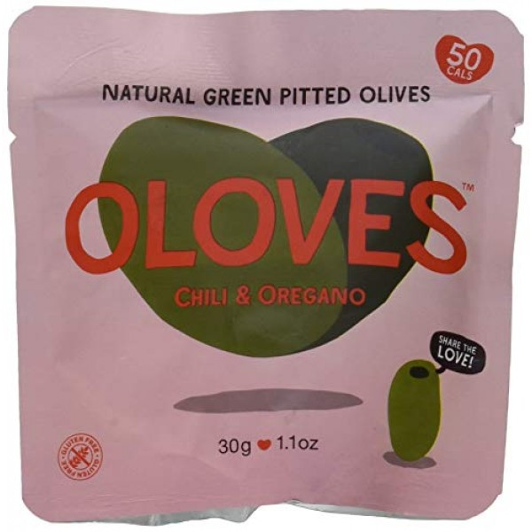 OLOVES Chili & Oregano   Fresh Green Pitted Olives   All Natural...