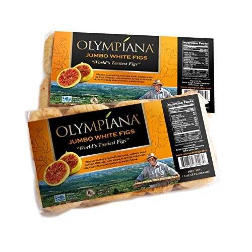 Olympiana Jumbo White Greek Dried Figs SINGLE PACK- 11 oz