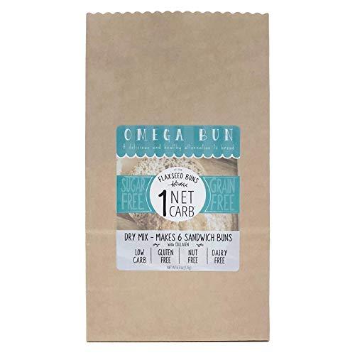 Omega Bun Dry Mix - Low Carb Bread, Keto Sandwich Bun, Gluten Fr...
