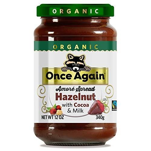 Once Again Amoré Organic Hazelnut Spread with Milk Chocolate 12 oz