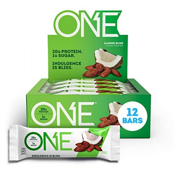 ONE Protein Bars, Almond Bliss, Gluten Free Protein Bars with 20...