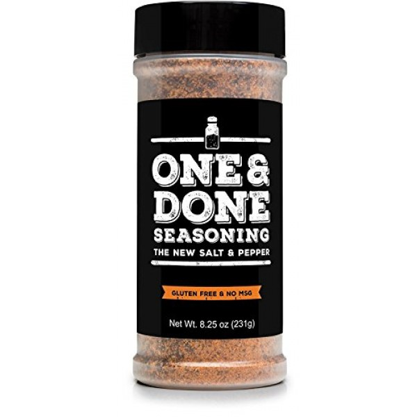 One & Done All Purpose Seasoning & BBQ Rub, 8.25 oz