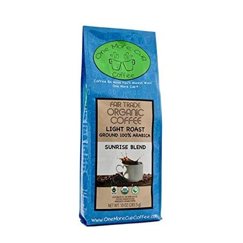 One More Cup Organic Fair Trade Sunrise Blend Light Roast Fresh ...