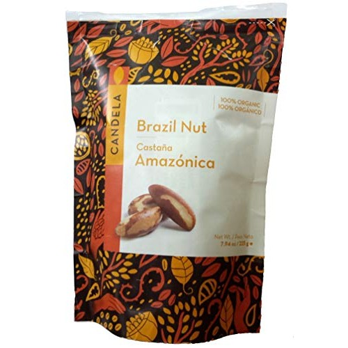 Organic Brazil Nuts - Oven-Dried, Unsalted, Fair Trade - 8 Oz. -...