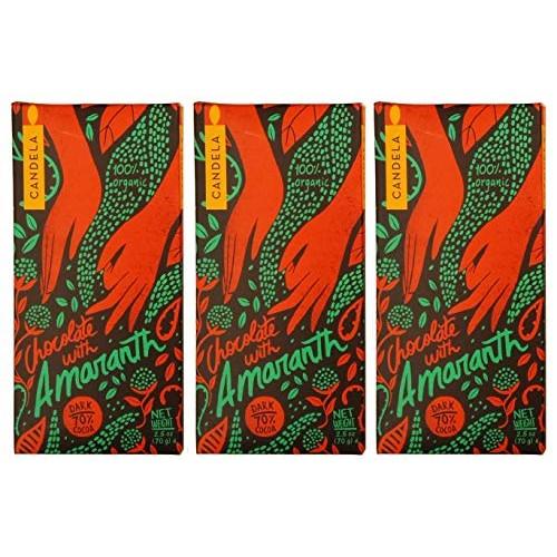 Organic Chocolate Bars with Amaranth - 3 Bars