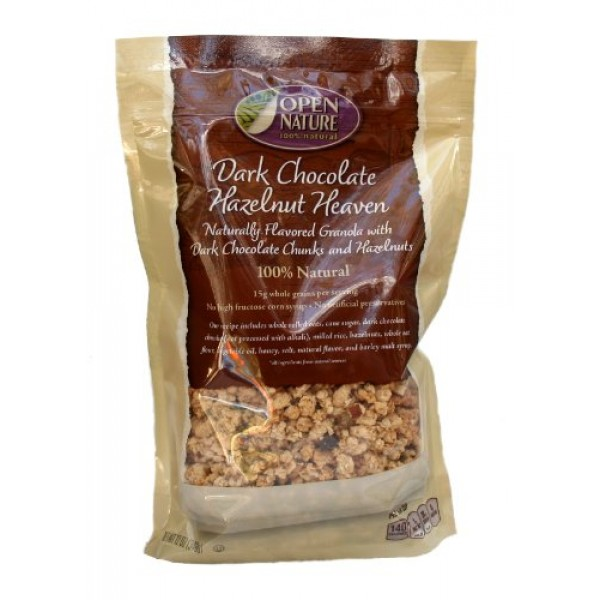 Open Nature 100% Natural, Dark Chocolate Hazelnut Heaven Granola...