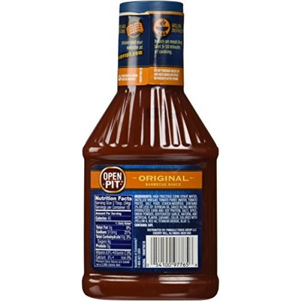 Open Pit Original BBQ Sauce, 18-Ounce Pack of 3