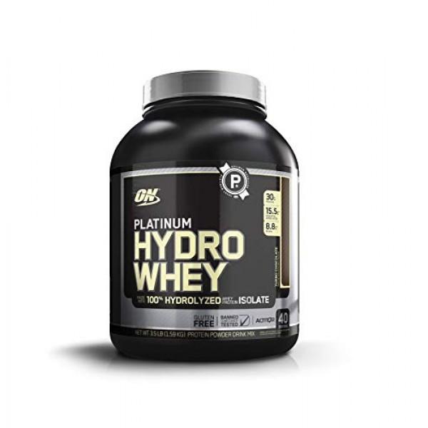 Optimum Nutrition Platinum Hydrowhey Protein Powder, 100% Hydrol...