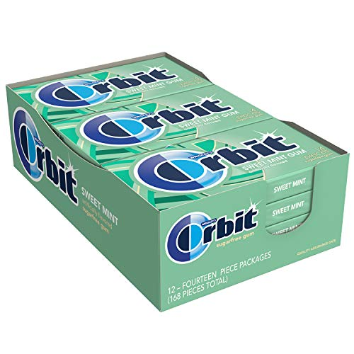 ORBIT Sweet Mint Sugarfree Gum, 14 Pieces 12 Pack