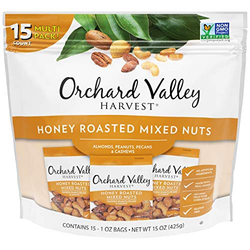 ORCHARD VALLEY HARVEST Honey Roasted Mixed Nuts, 1 oz Pack of 1...