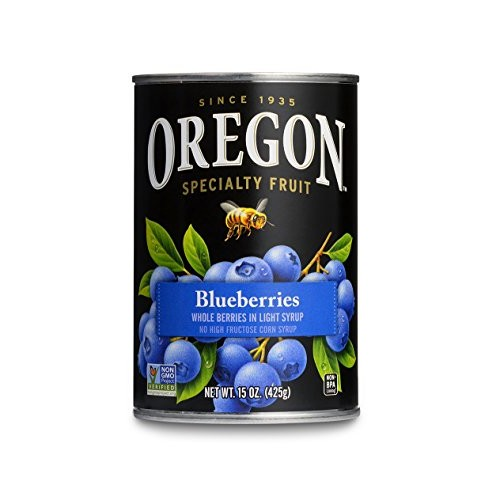 Oregon Fruit Blueberries in Light Syrup, 15-Ounce Cans Pack of 8