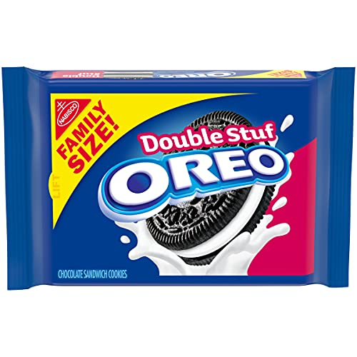 Oreo Double Stuf Chocolate Sandwich Cookies - Family Size, 20 Ounce