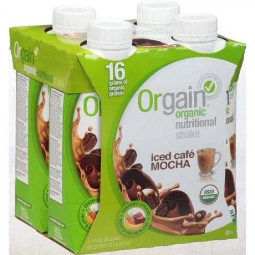 Orgain Iced Cafe Mocha Organic Nutritional Shake, 44 fl oz, Pac...