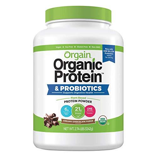 Orgain Organic Plant Based Protein Powder, Vegan, Low Net Carbs,...