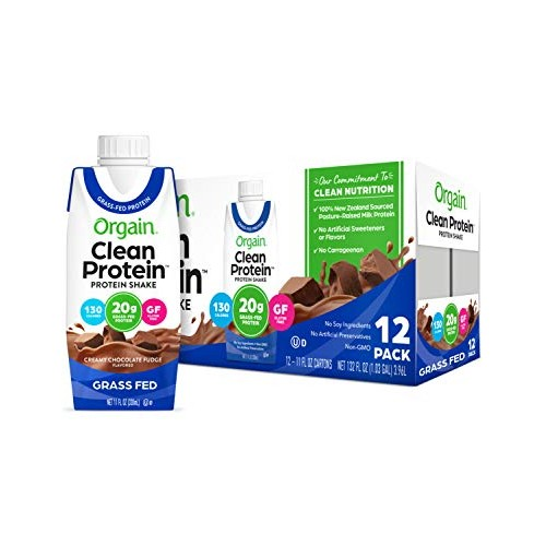 Orgain Grass Fed Clean Protein Shake, Creamy Chocolate Fudge - M...