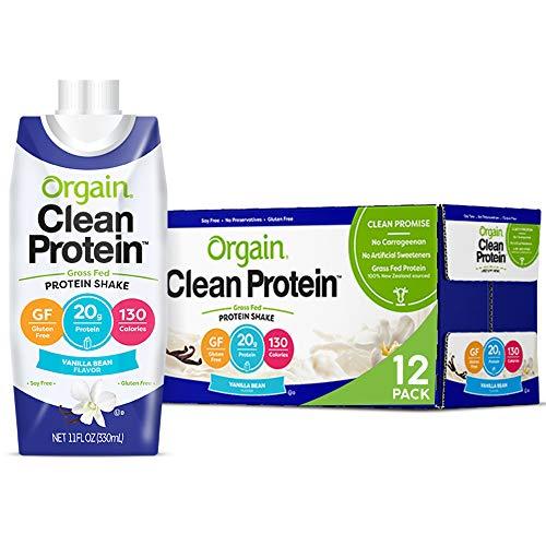 Orgain Grass Fed Clean Protein Shake, Vanilla Bean - Meal Replac...