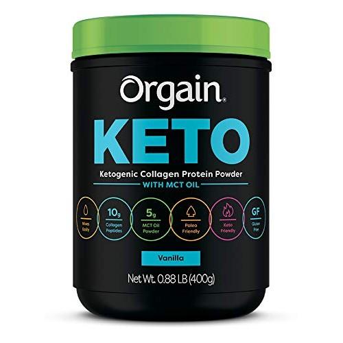 Orgain Keto Collagen Protein Powder with MCT Oil, Vanilla - Pale...