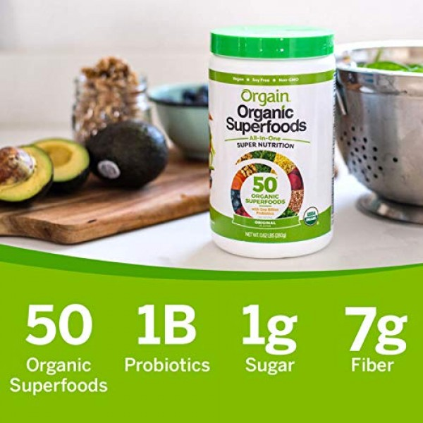 Orgain Organic Green Superfoods Powder, Berry - Antioxidants, 1 ...