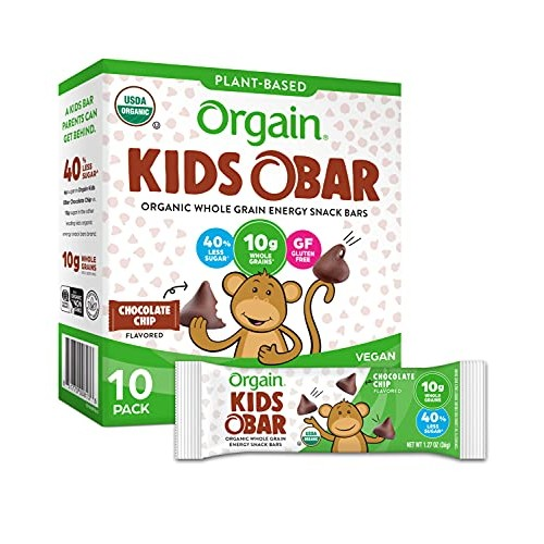 Orgain Organic Kids Energy Bar, Chocolate Chip - Great for Snack...