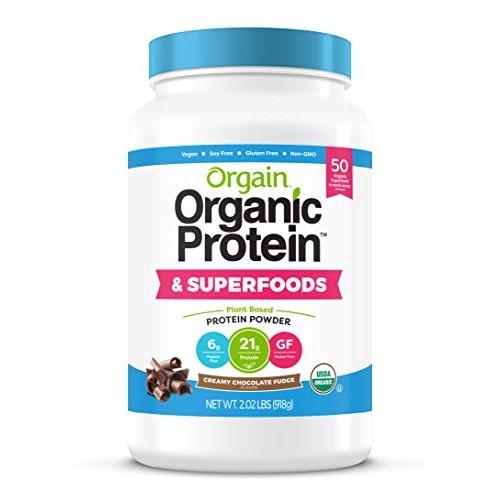 Orgain Organic Plant Based Protein + Superfoods Powder, Creamy C...