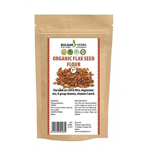 Organic Flax Seed Flour Original Bulgarian Bio Product - 7 Oz.
