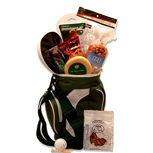 Golfers Tee Time! Drink Cooler and Gourmet Food Gift Basket for...