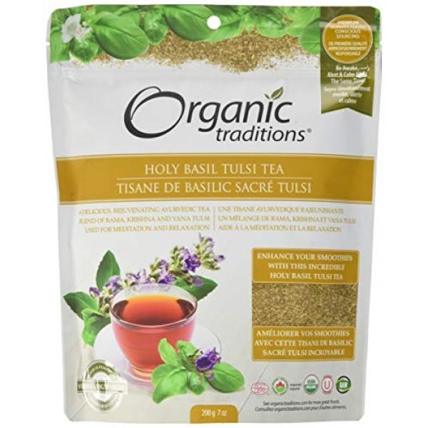 Organic Traditions Teas, Holy Basil Tulsi Tea, 7 Ounce