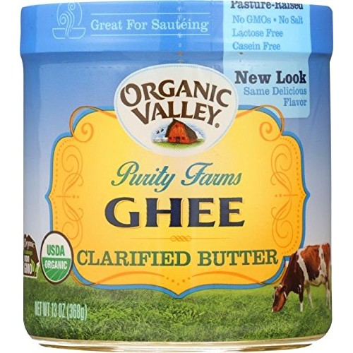 Organic Valley Purity Farms Ghee Clarified Butter 13 oz Pack of 2