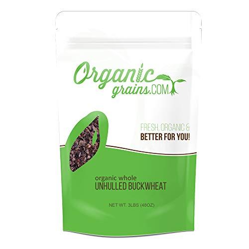 Organic Whole Unhulled Buckwheat NON-GMO 3lb