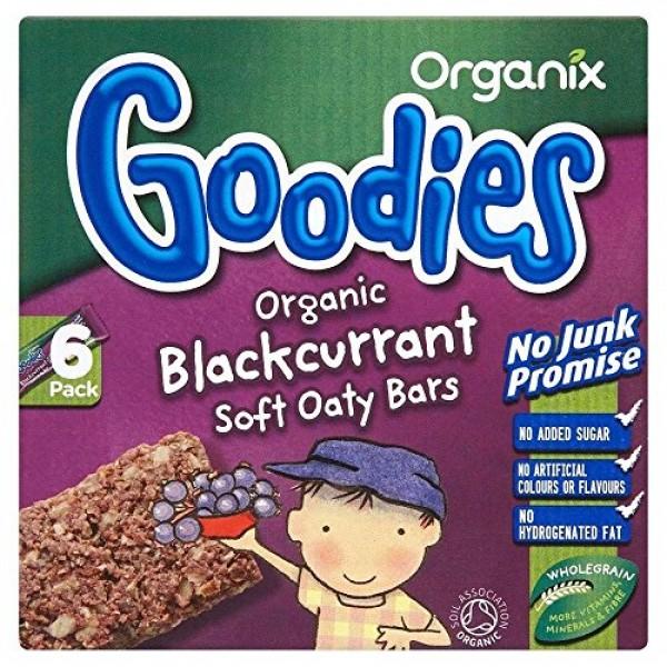 Organix Goodies Organic Soft Oaty Bars - Blackcurrant 12mth+ 6x...