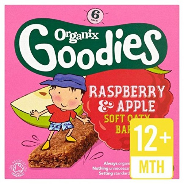 Organix Goodies Organic Soft Oaty Bars - Raspberry & Apple 12mth...