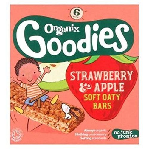 Organix Goodies Organic Strawberry & Apple Soft Oaty Bars 6 X 30G