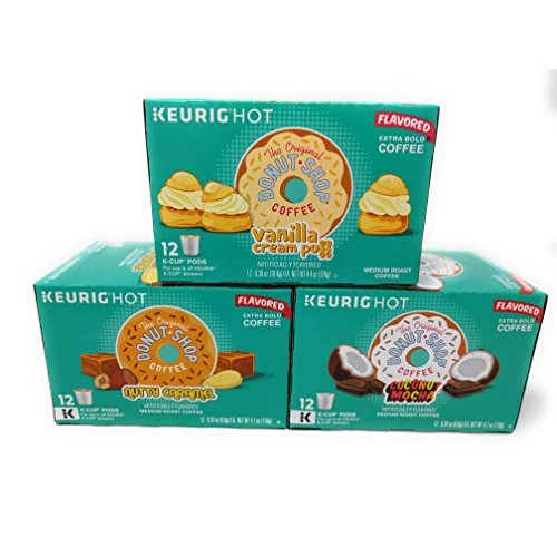 Donut Shop K-cup Coffee Pods Variety Pack Set of 3 Coconut Moc...