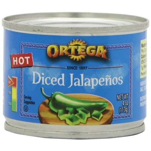 Ortega Diced Jalapenos, 4-Ounce Cans Pack of 4