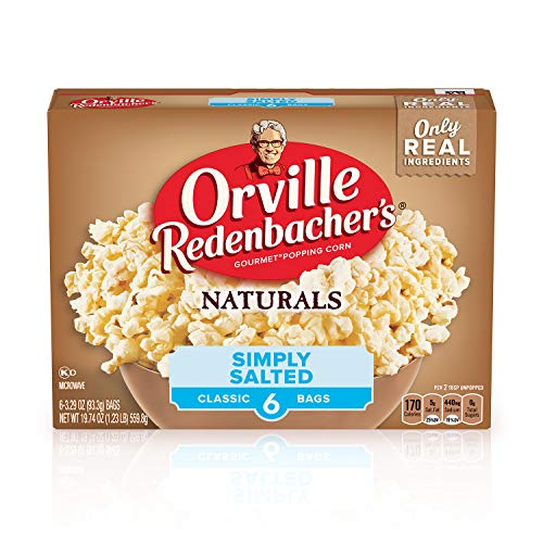 Orville Redenbachers Naturals Simply Salted Microwave Popcorn, ...
