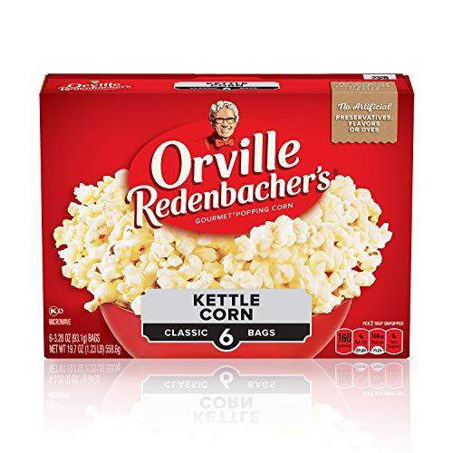 Orville Redenbachers Kettle Corn Microwave Popcorn, 3.28 Ounce ...