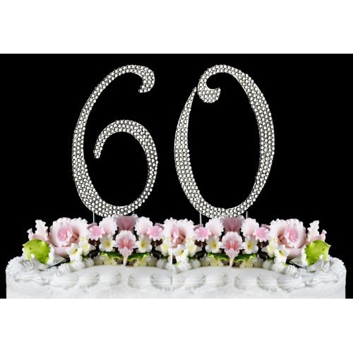 Rhinestone Cake Topper Number 60 by other