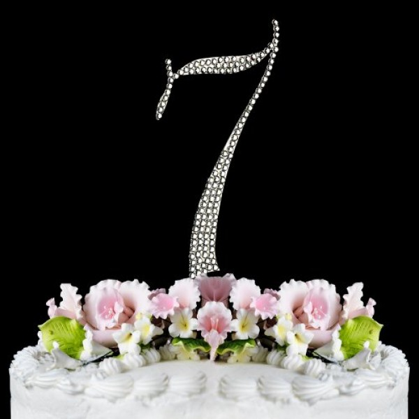 Rhinestone Cake Topper Number 7 by other