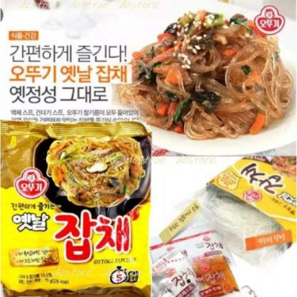#RT Ottogi Jabchae Vermicelli Noodle 73g -Japchae is a popular K...
