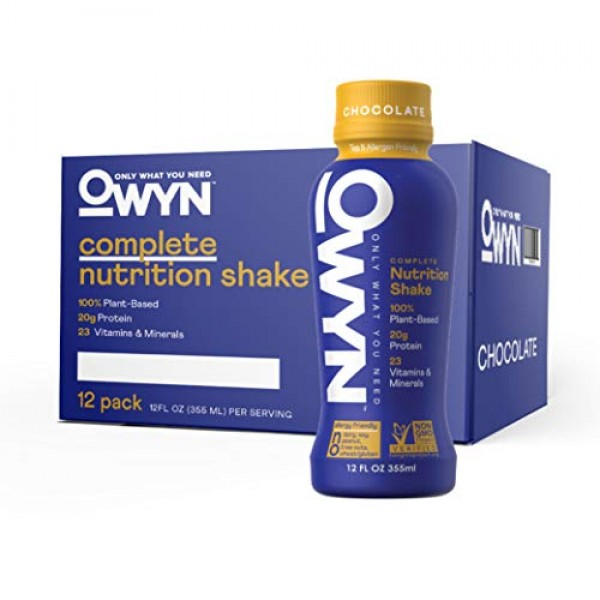 OWYN - 100% Vegan Plant-Based Meal Replacement Shakes | Chocolat...