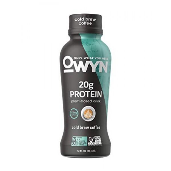 OWYN, Vegan Protein Shake,12 Fl Oz, 100-Percent Plant-Based, Dai...