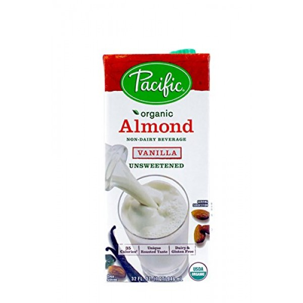Pacific Foods Organic Almond Non-Dairy Beverage, Unsweetened Van...