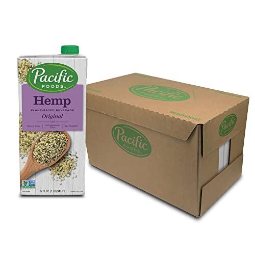 Pacific Foods Hemp Original Plant-Based Beverage, 32oz, 12-pack