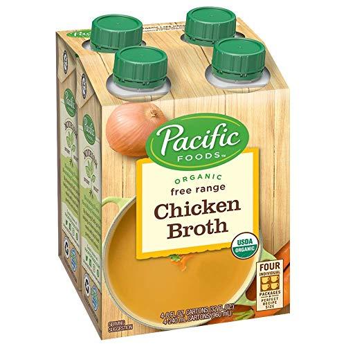 Pacific Foods Organic Free Range Chicken Broth, 8oz, 24-pack
