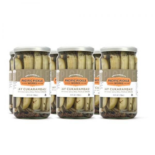 Ay Cukarambas 6-pack - Semi-spicy pickle spears 24oz jar
