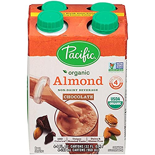 Pacific Beverages Naturally Almond Chocolate 4 pack, Gluten Free...