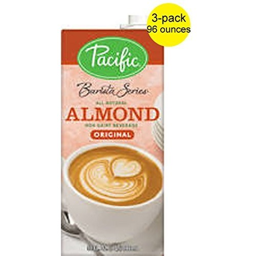 Pacific Barista Almond Beverage Pack of Three 32 Ounce Cartons