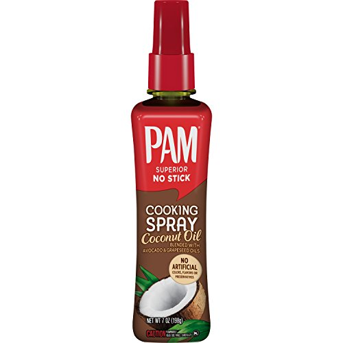 PAM Spray Pump Coconut Oil Cooking Spray with Avocado Oil and Gr...